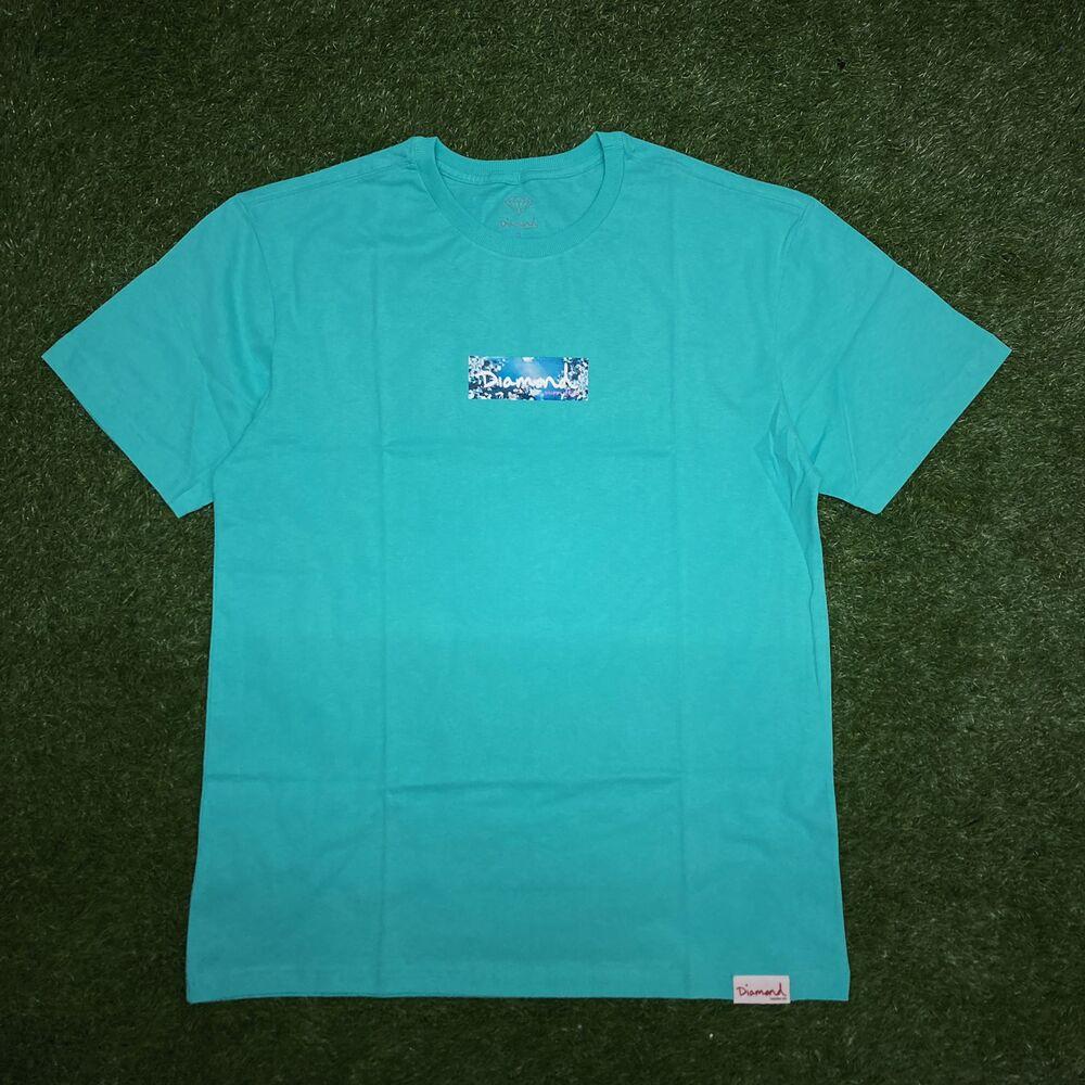 Camiseta diamond flower box blue