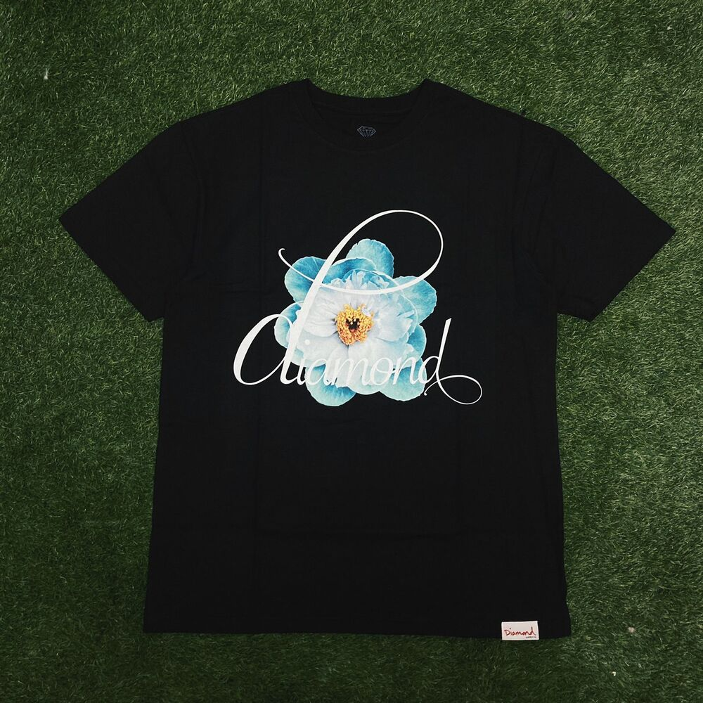 Camiseta diamond flower child black