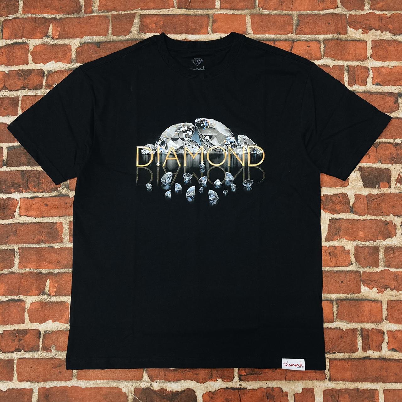 Camiseta diamond mirrored black
