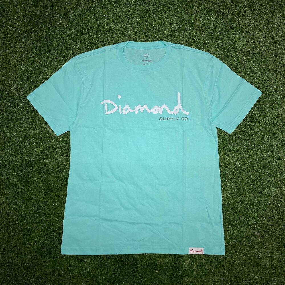 Camiseta diamond og script blue esp