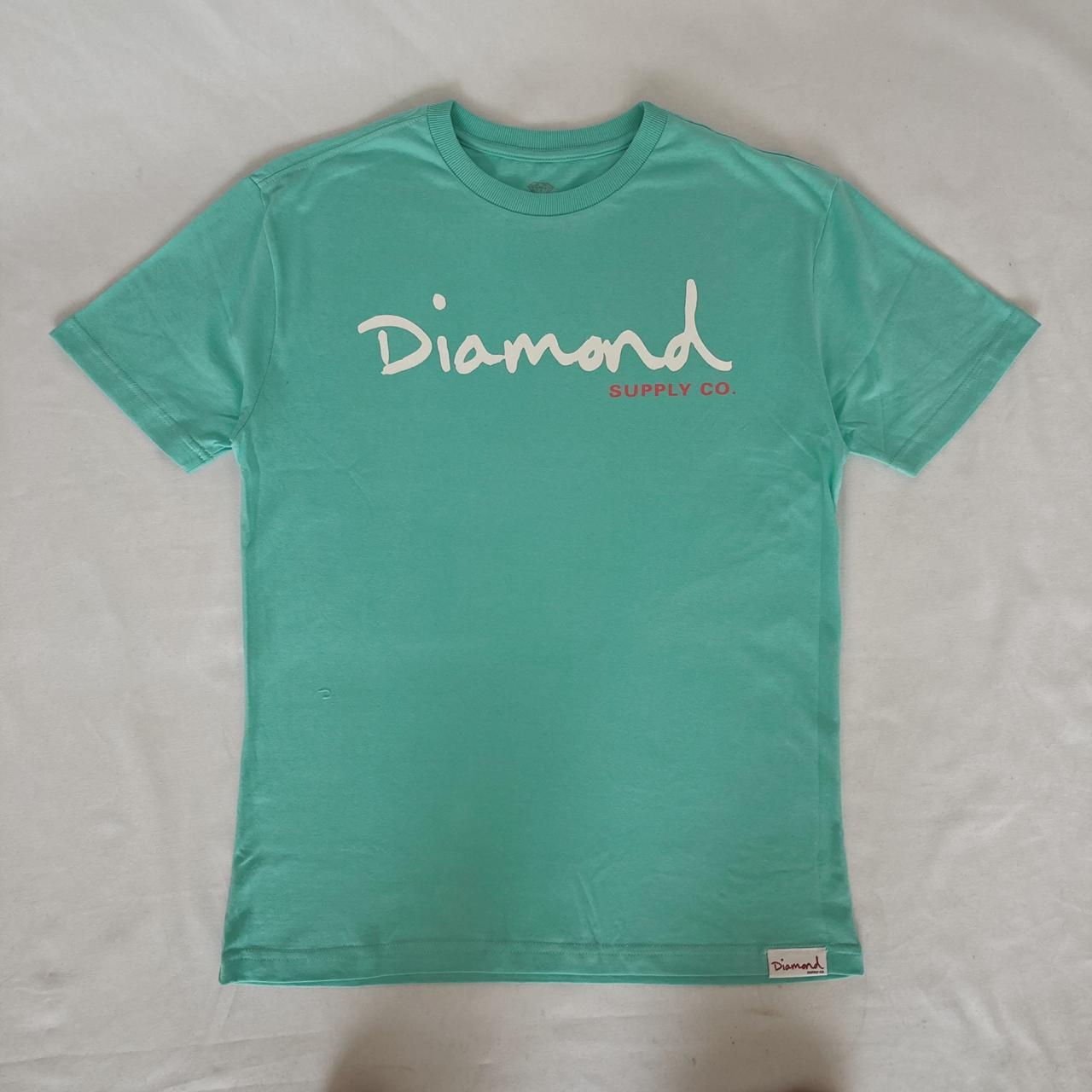 Camiseta diamond og script diamond blue