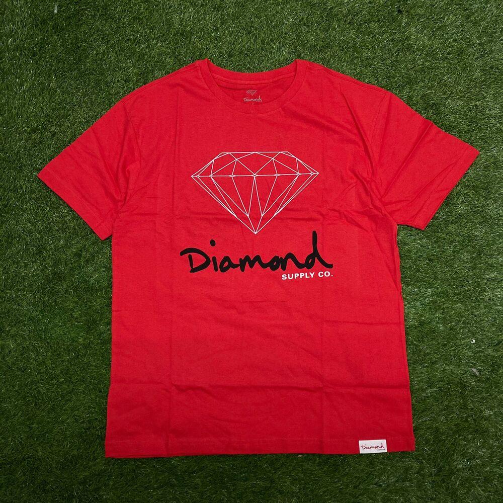 Camiseta diamond og sign red