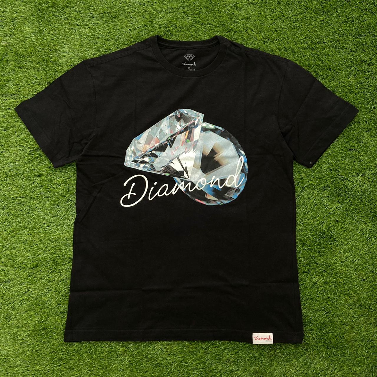 Camiseta diamond reflection black