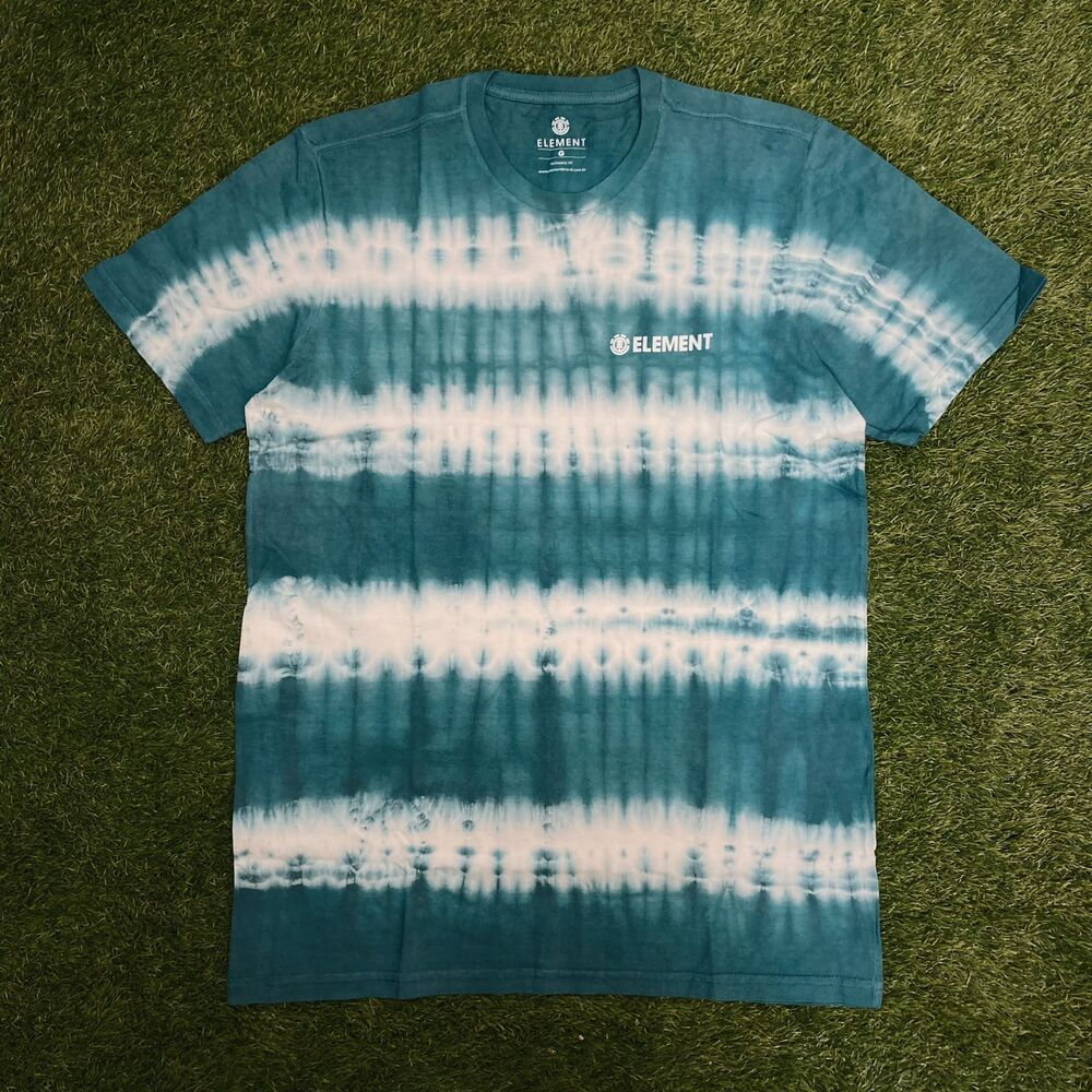 Camiseta element blazin chest tie dye verde 0073