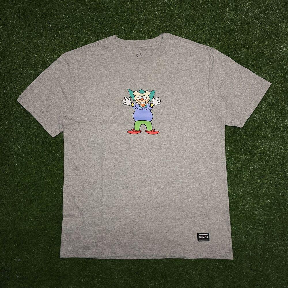Camiseta grizzly clownin cinza