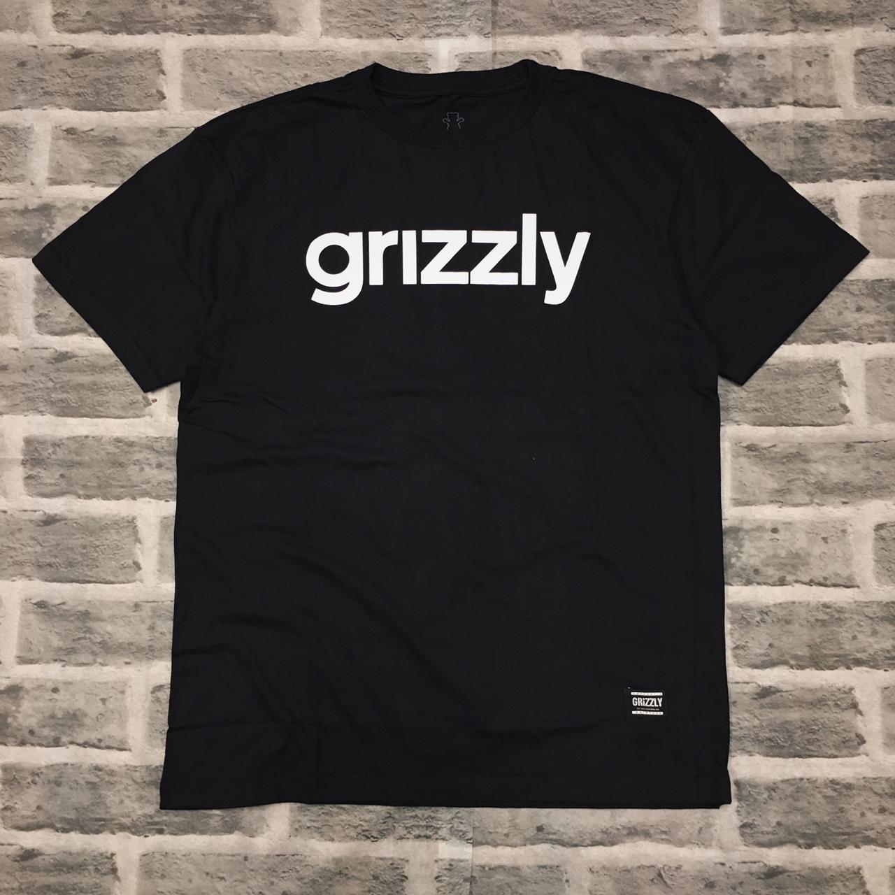 Camiseta Grizzly lowercase logo black