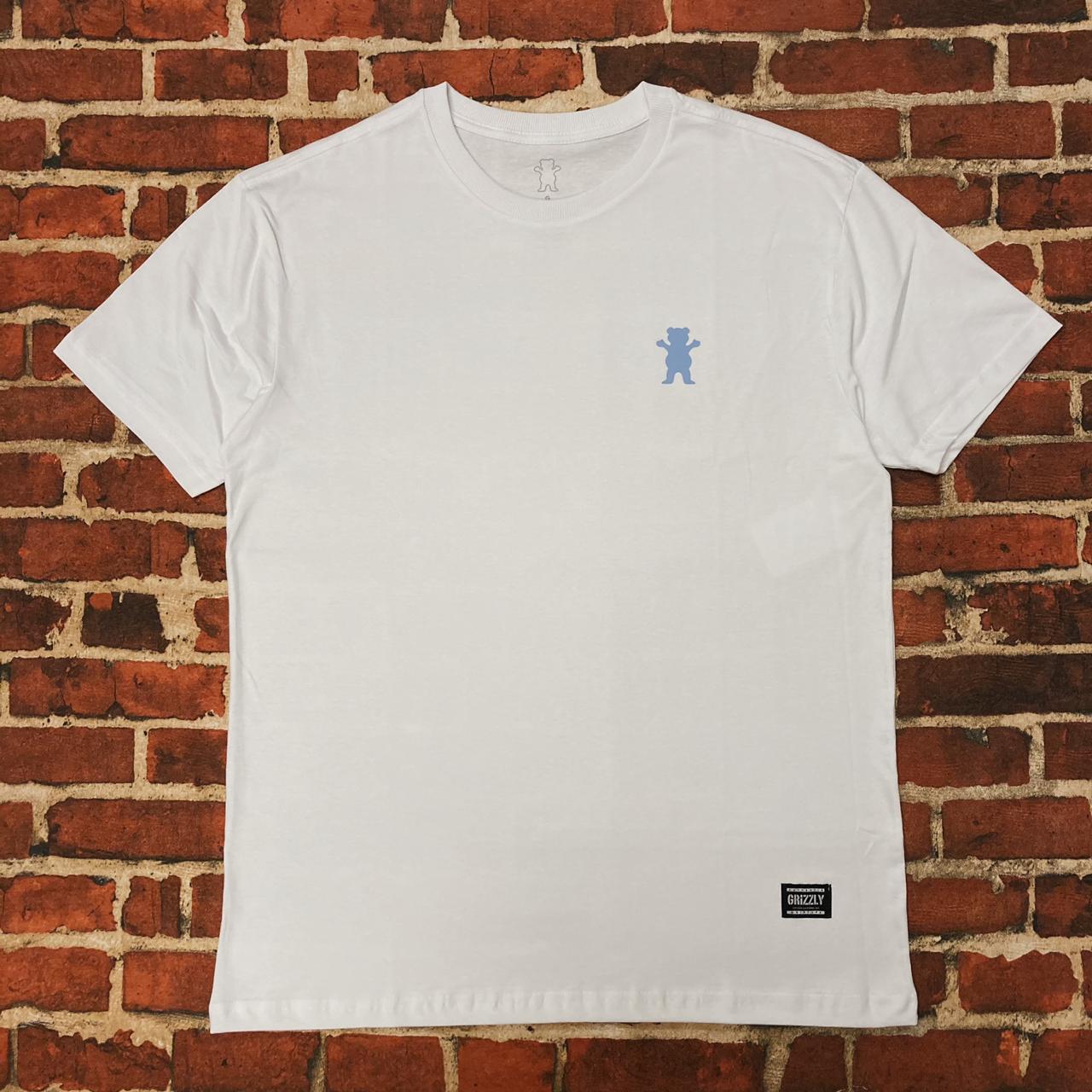 Camiseta grizzly mini logo og bear white
