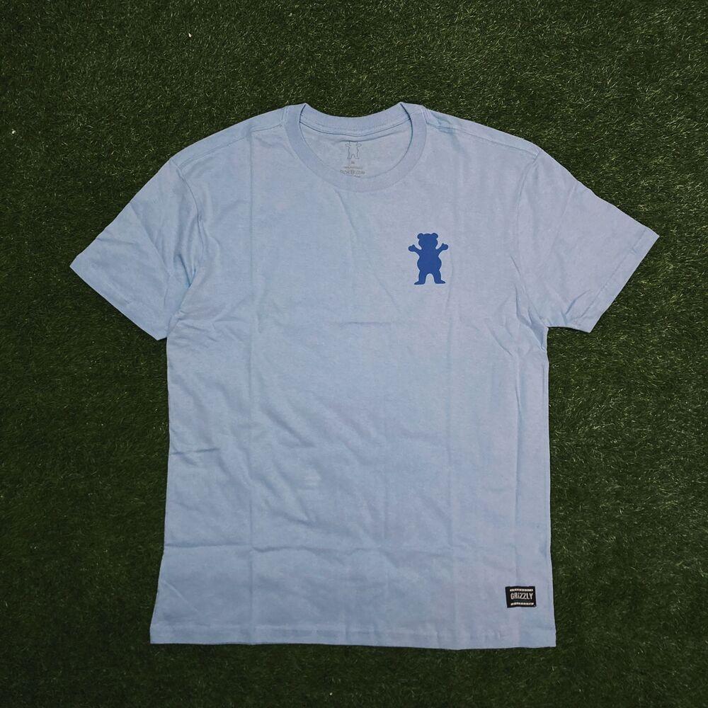 Camiseta grizzly mini og bear powder blue