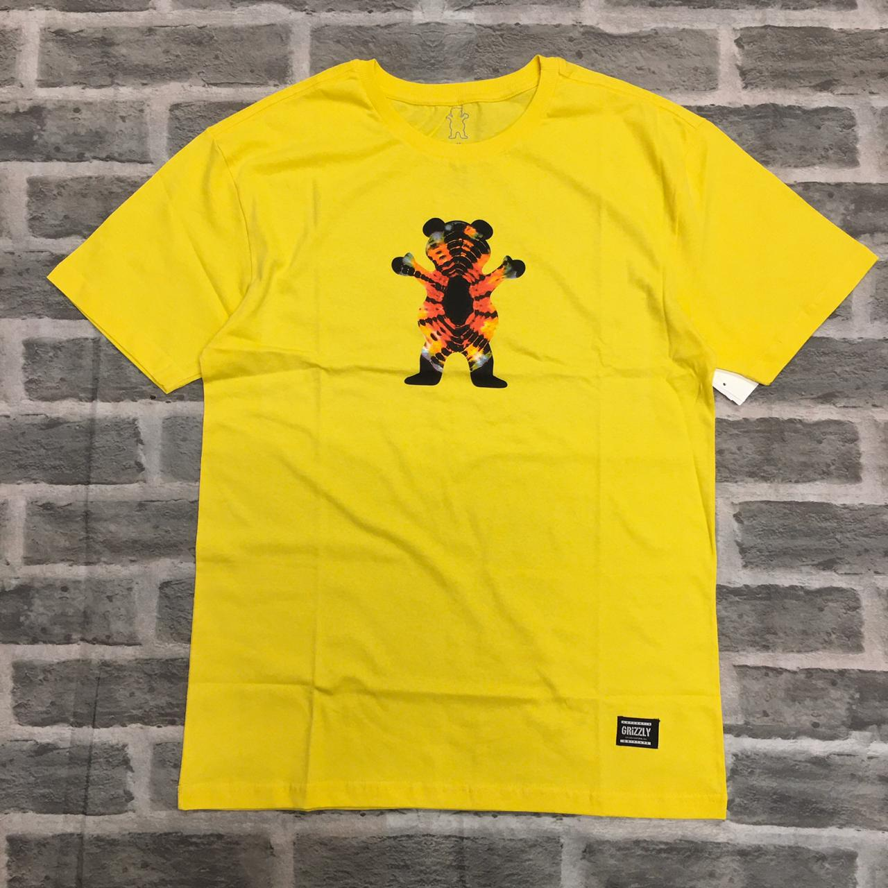 Camiseta Grizzly Og bear tie dye tee amarela