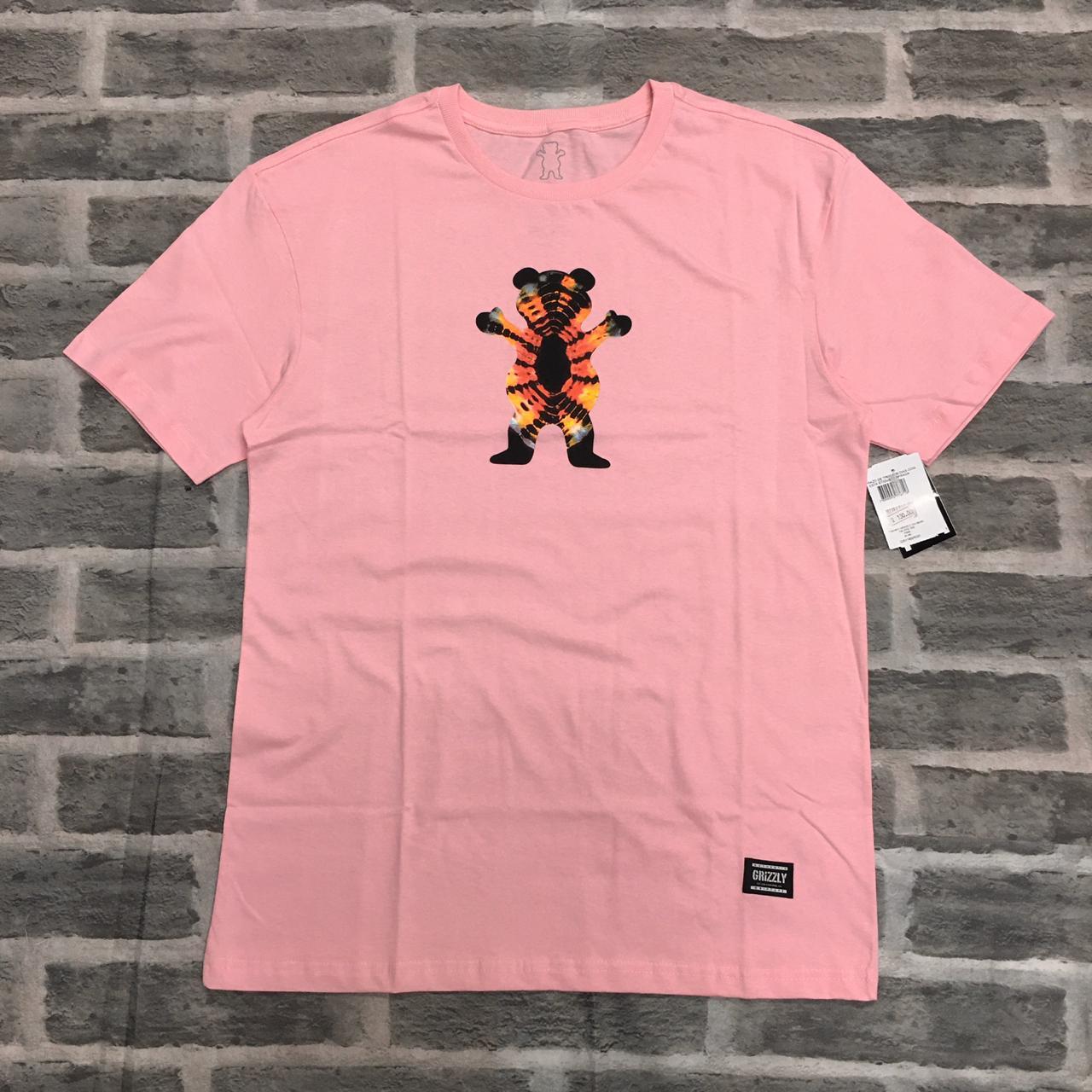 Camiseta Grizzly Og beat tie dye tee rosa