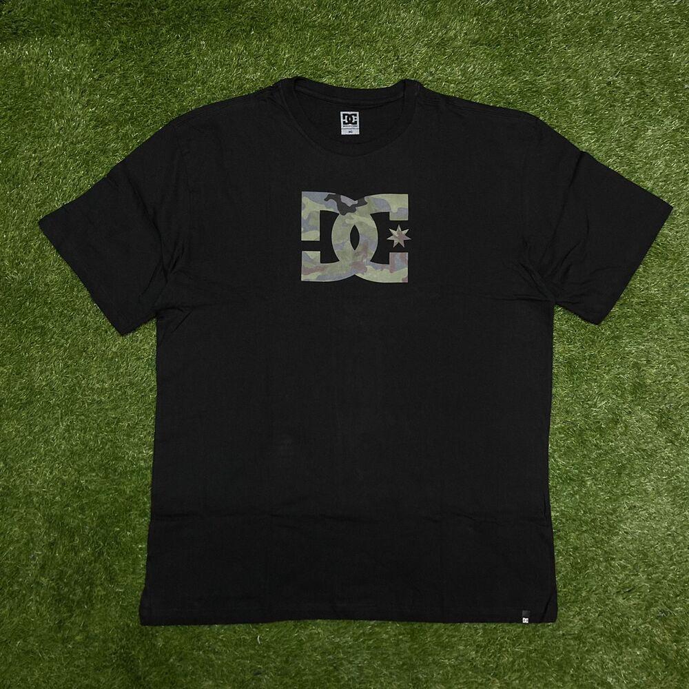 Camiseta tamanho esp  dc  star camo fill preta