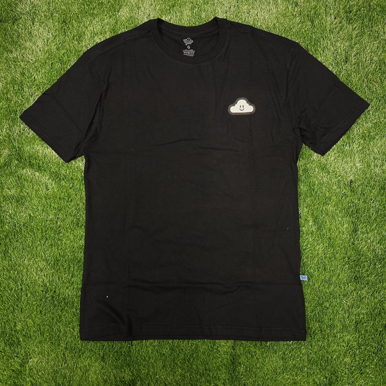 Camiseta thankyou cloud icon black