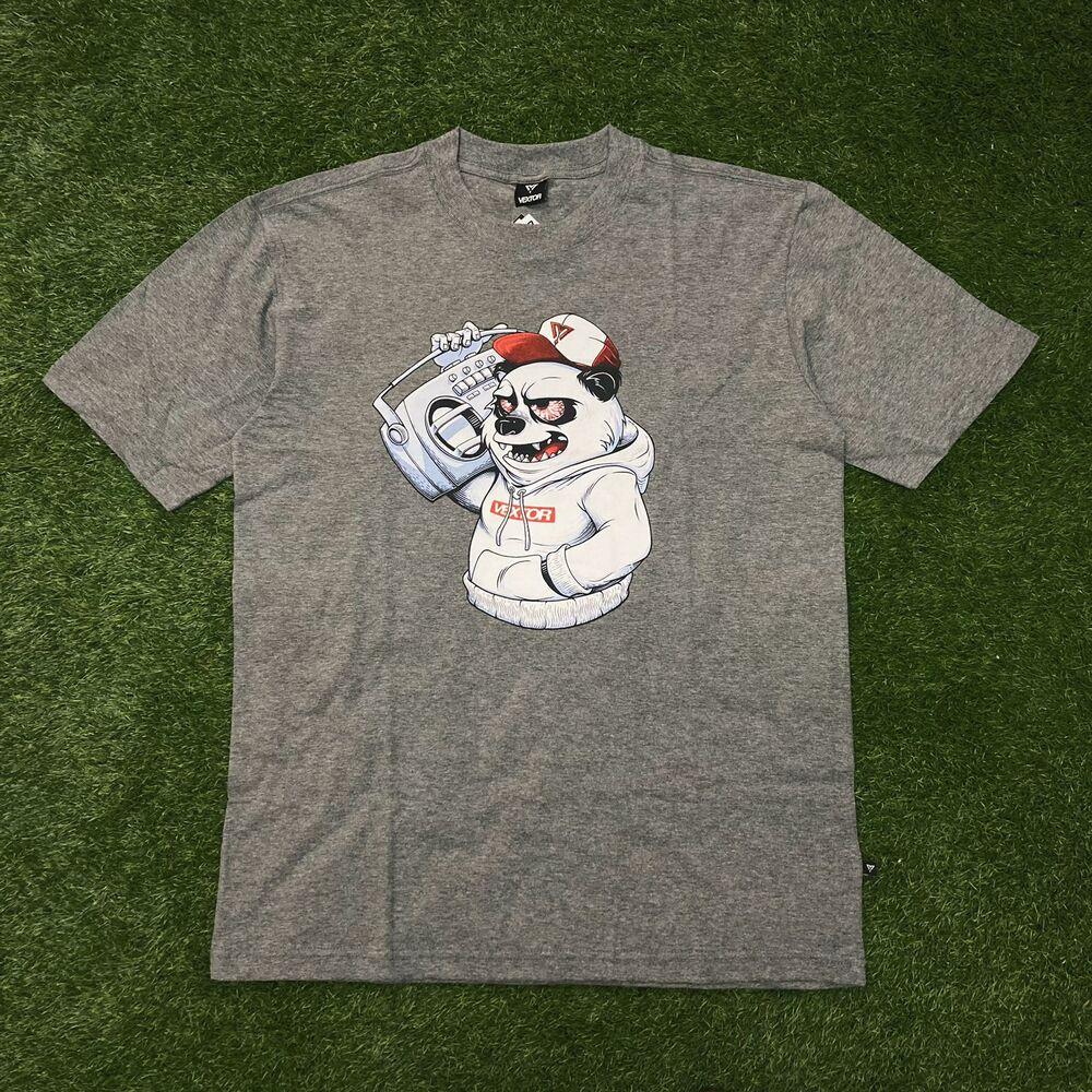 Camiseta vextor 0101 cinza mescla