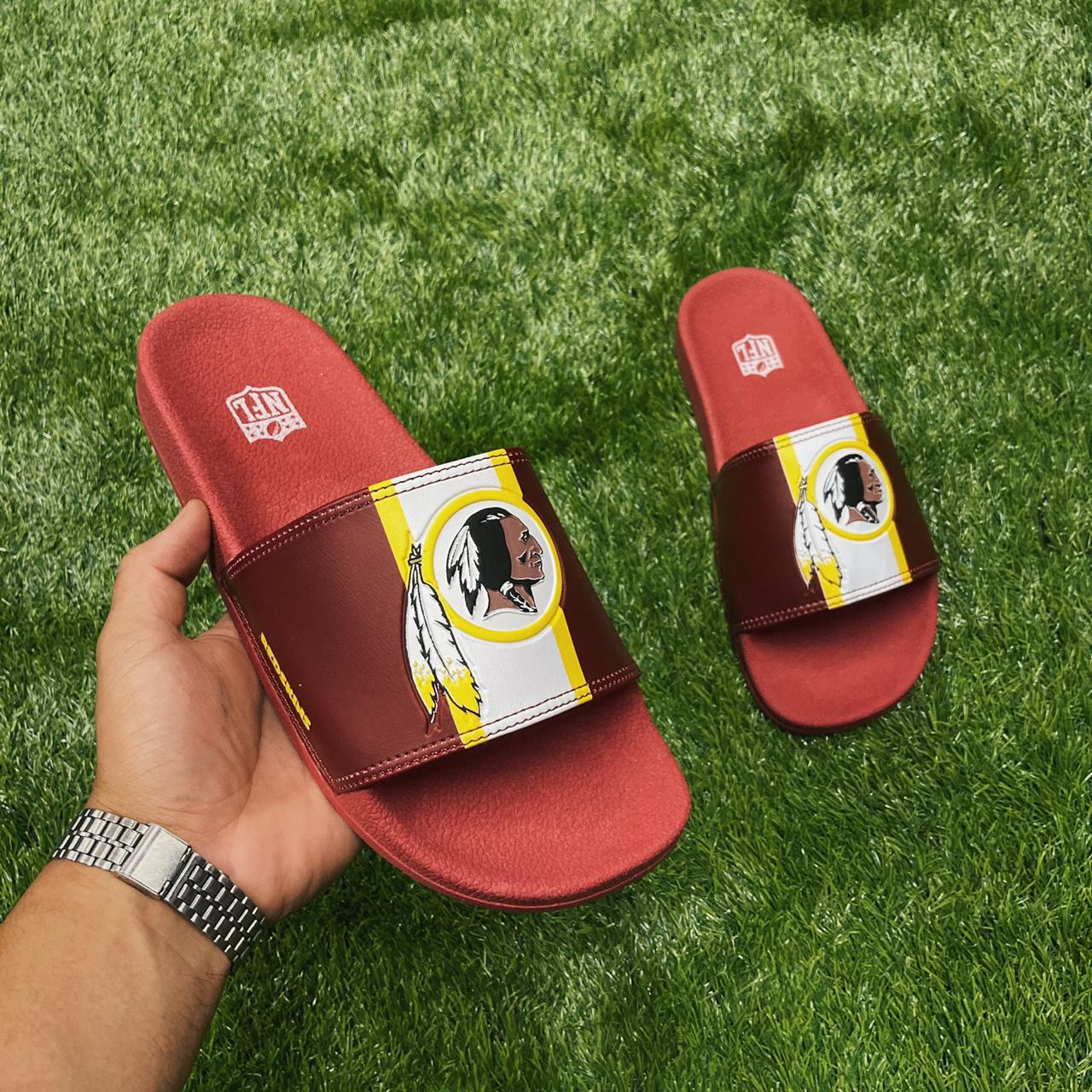 Chinelo nfl  redskins brown/white nfsl0019