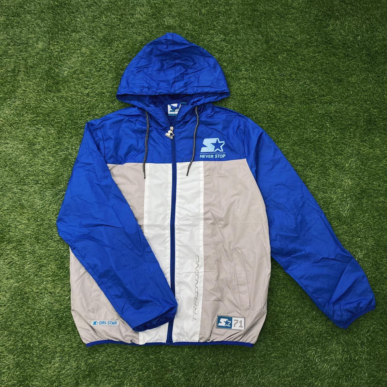 Jaqueta corta vento starter azul/cinza t295a