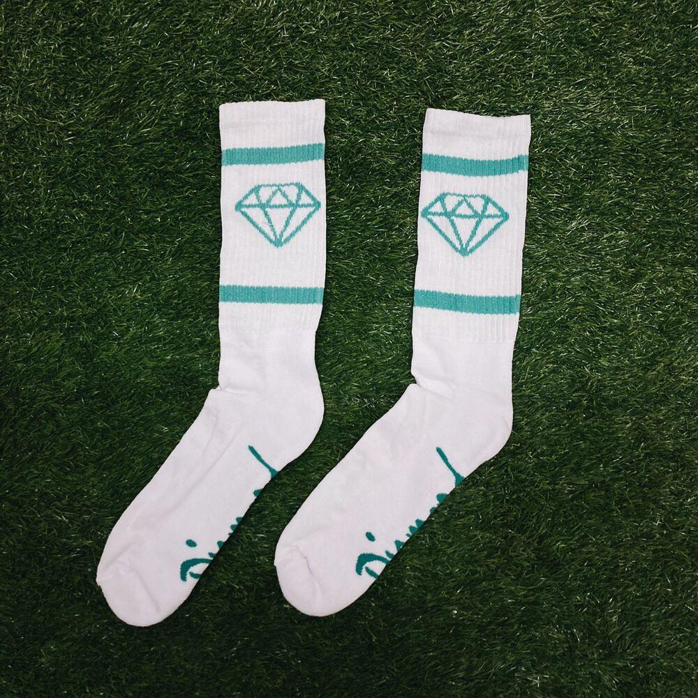 Meia diamond rock sports white