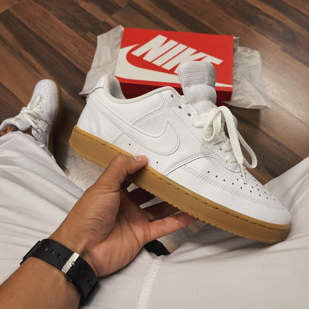 Tênis nike  court vision white gum