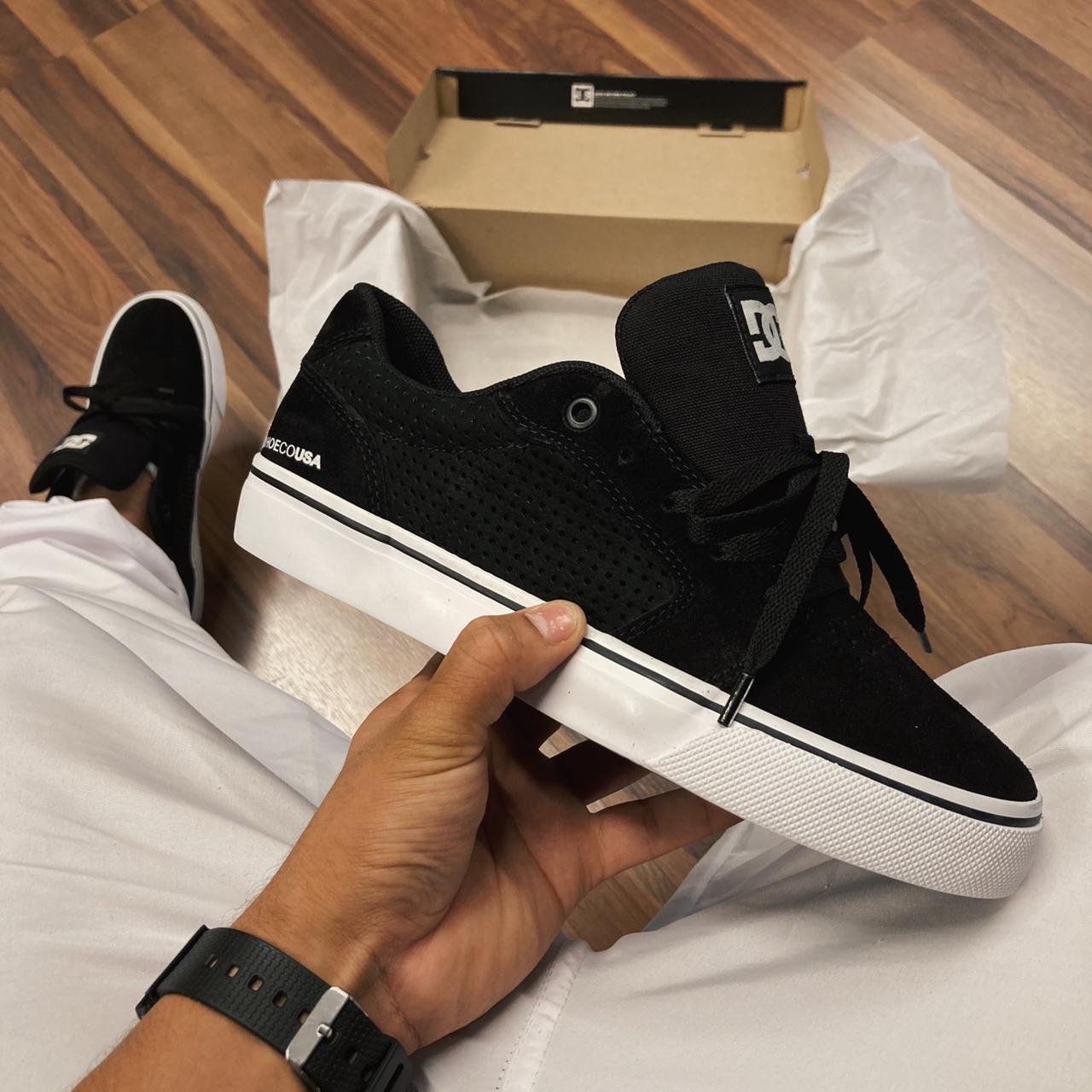 Tênis dc anvil la se black/black/white