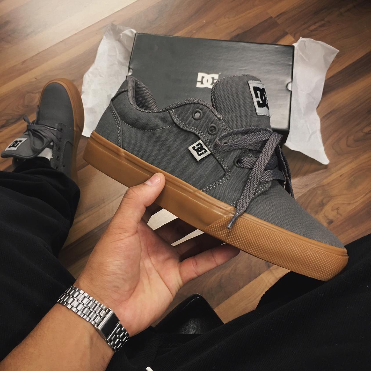 Tênis DC anvil tx la grey / black / grey