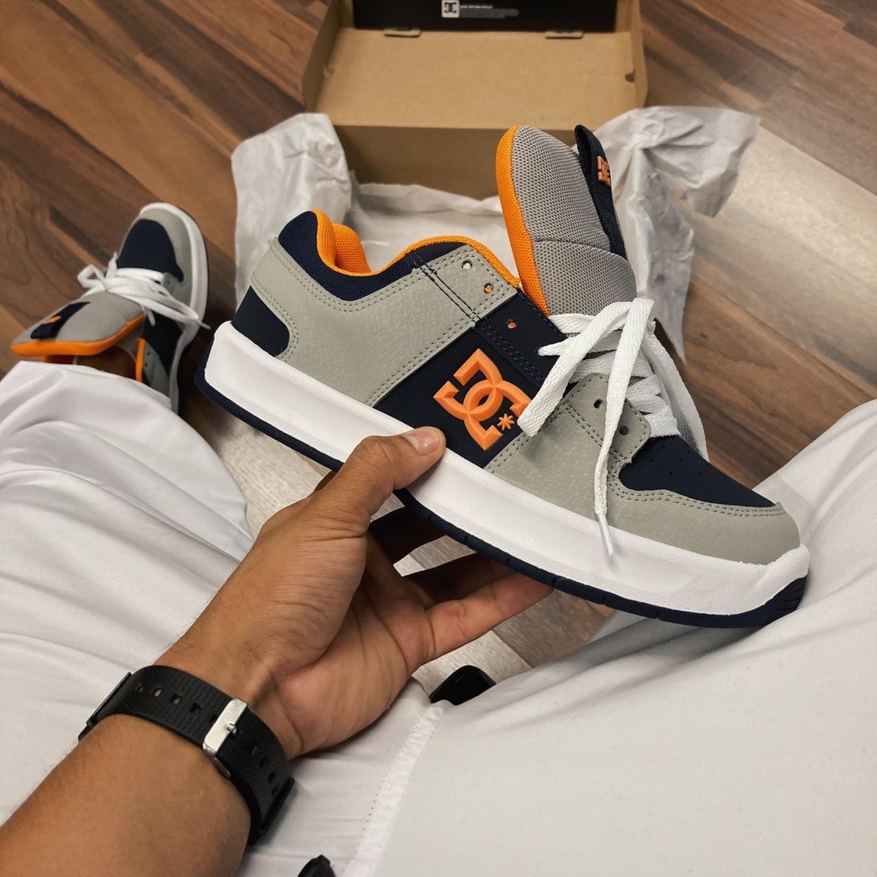 Tênis dc lynx zero blue/orange/white