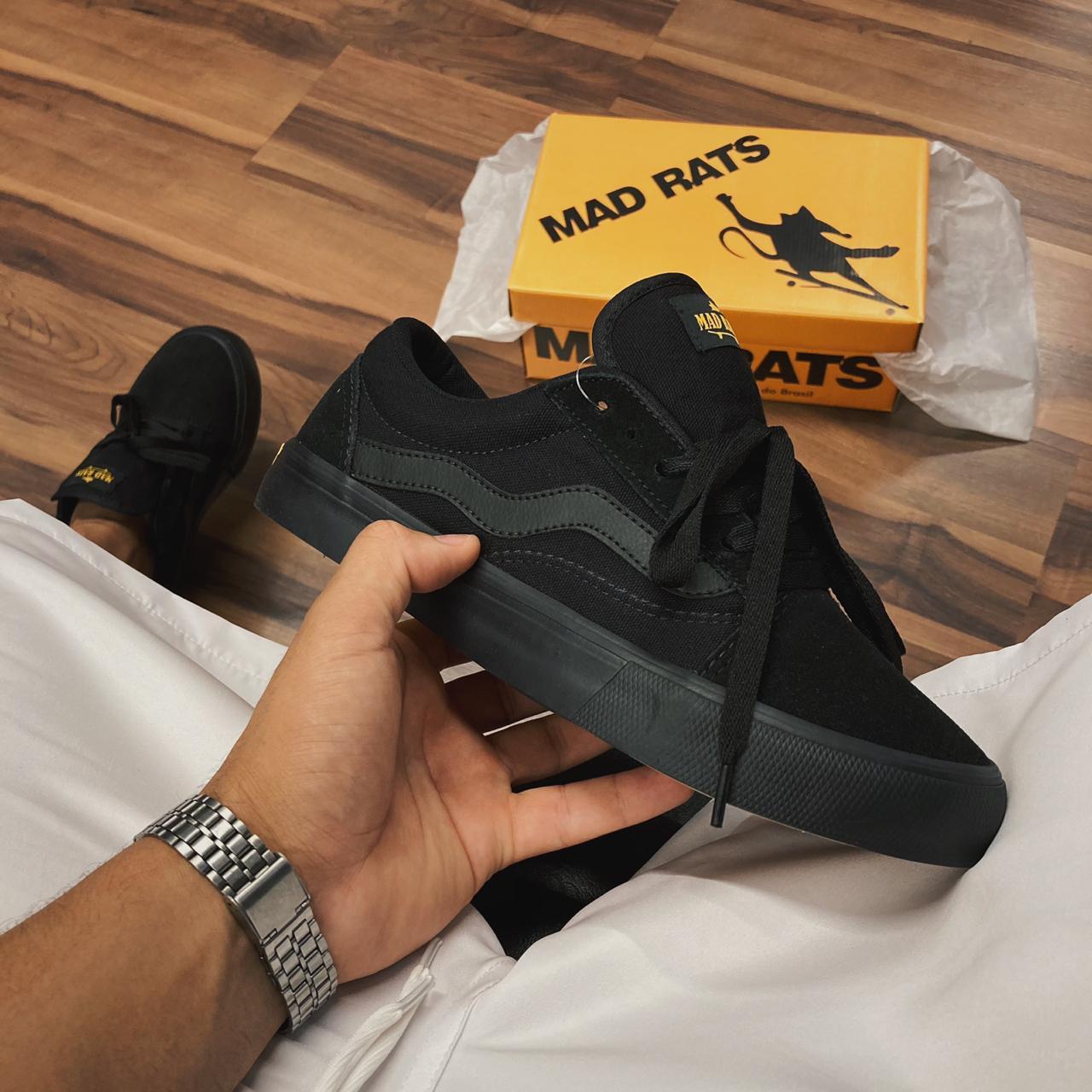 Tênis Mad Rats Old School all black