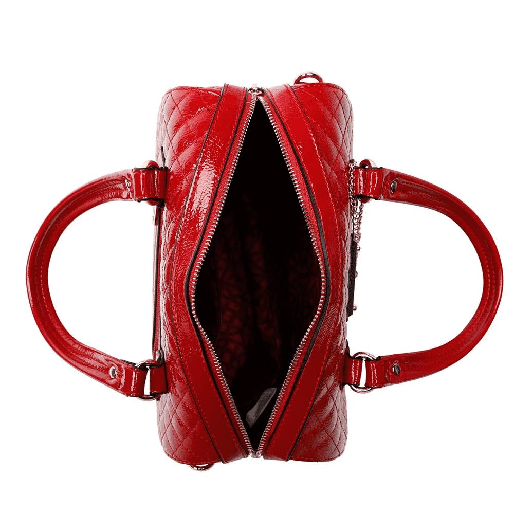 Bolsa Feminina Baú Verniz Fellipe Krein - FK136 Vermelha
