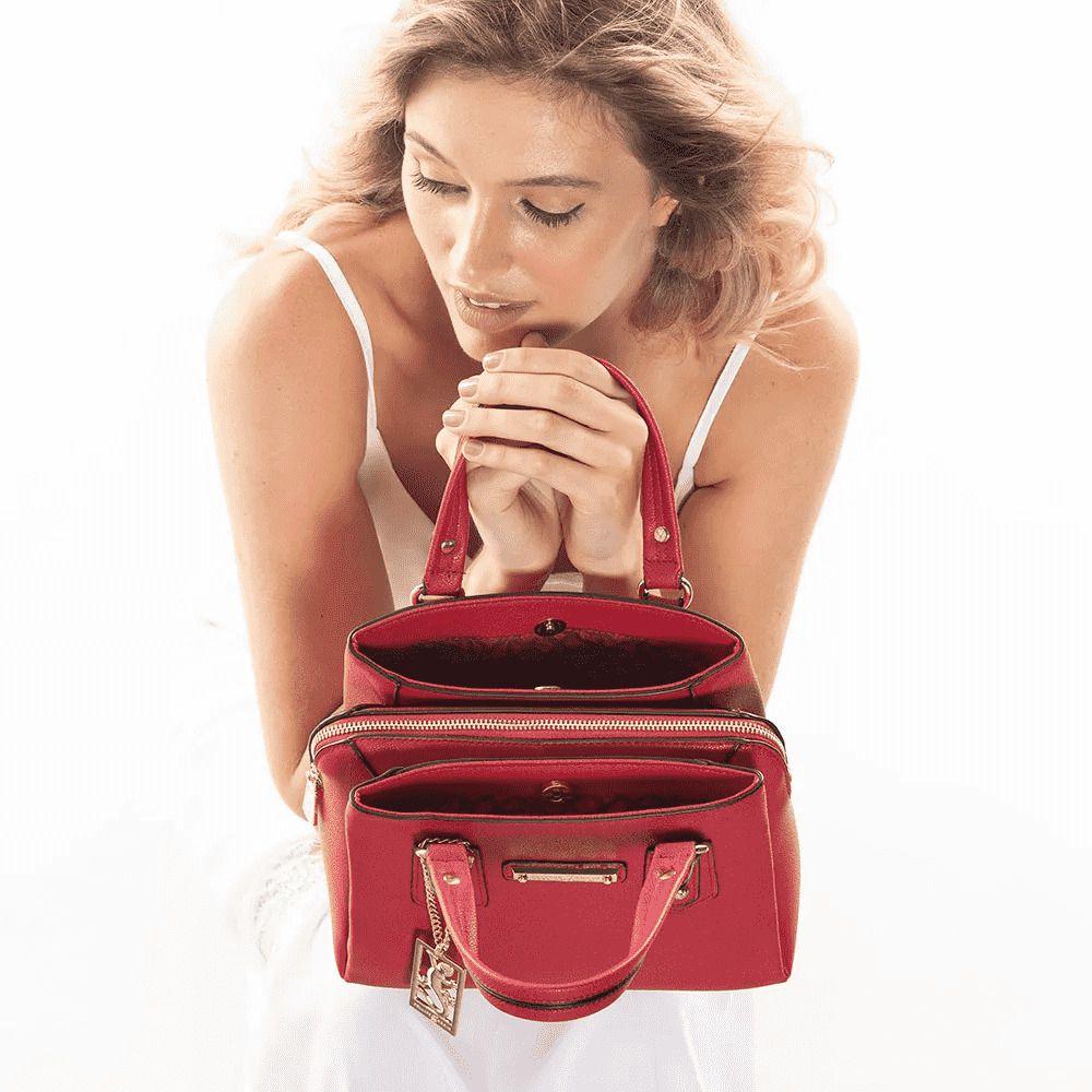 Bolsa Feminina Fellipe Krein FK117 Vermelha