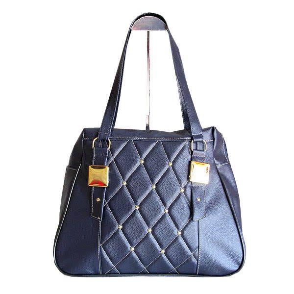 Bolsa Feminina Grande Fashion Brasil - Azul Marinho