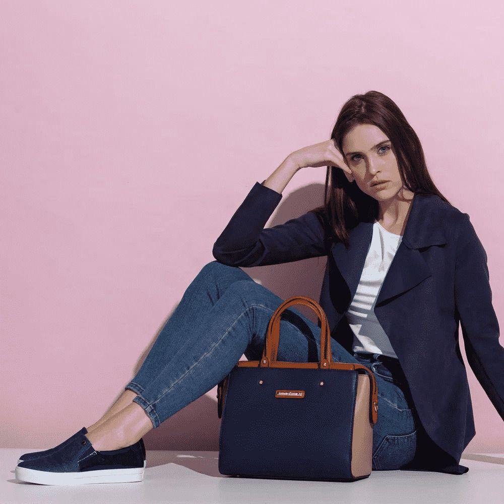 Bolsa Feminina Handbag Fellipe Krein - FK119 Preta