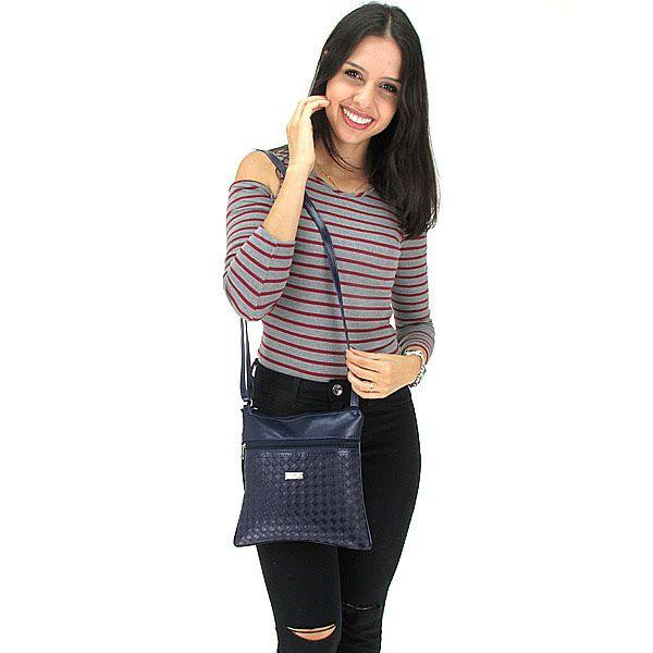 Bolsa Feminina Tiracolo Pequena Fashion Brasil - Azul Marinho
