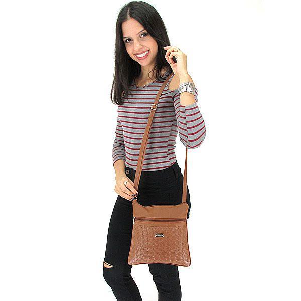 Bolsa Feminina Tiracolo Pequena Fashion Brasil - Caramelo