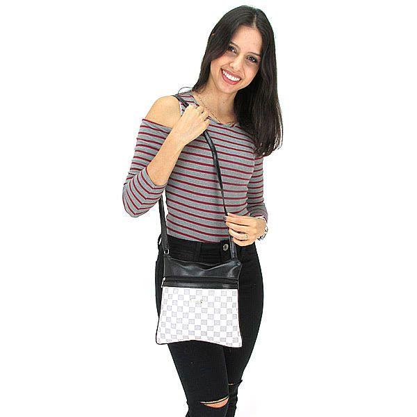 Bolsa Feminina Tiracolo Pequena Fashion Brasil - Bege