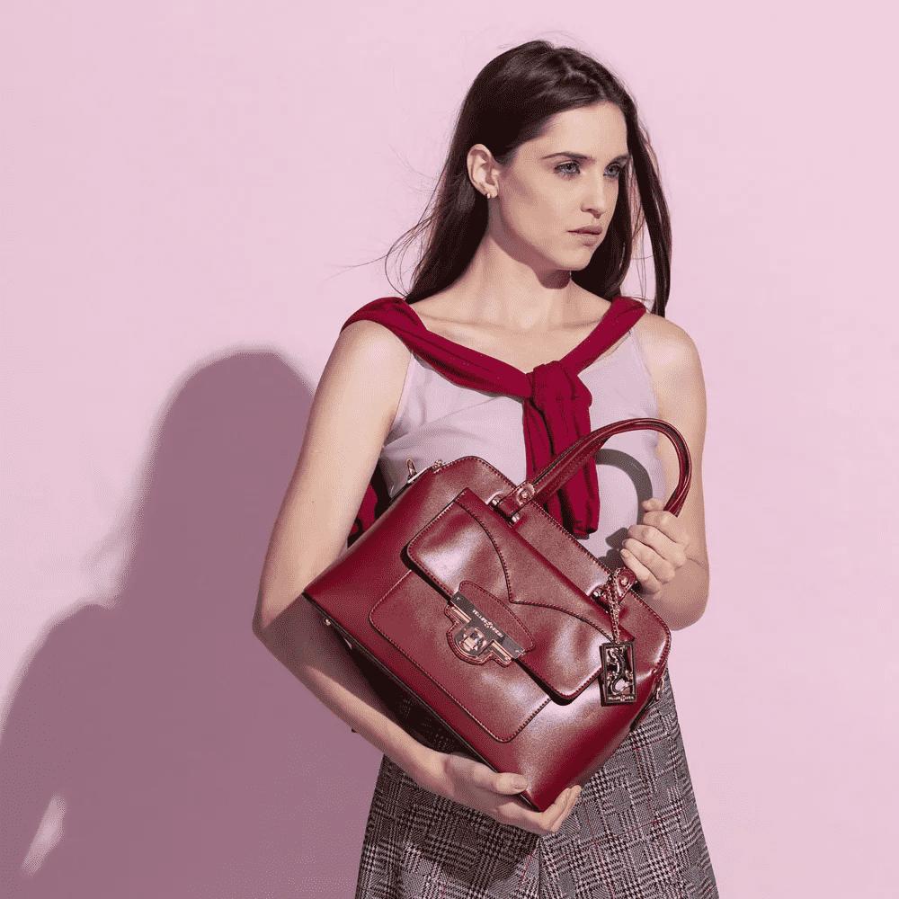 Bolsa Feminina Estruturada Fellipe Krein - FK145 Vermelha