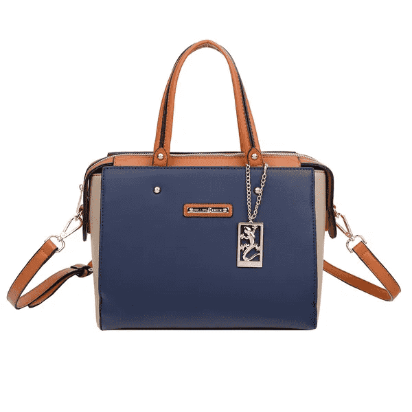 Bolsa Feminina Handbag Fellipe Krein - FK119 Azul Marinho