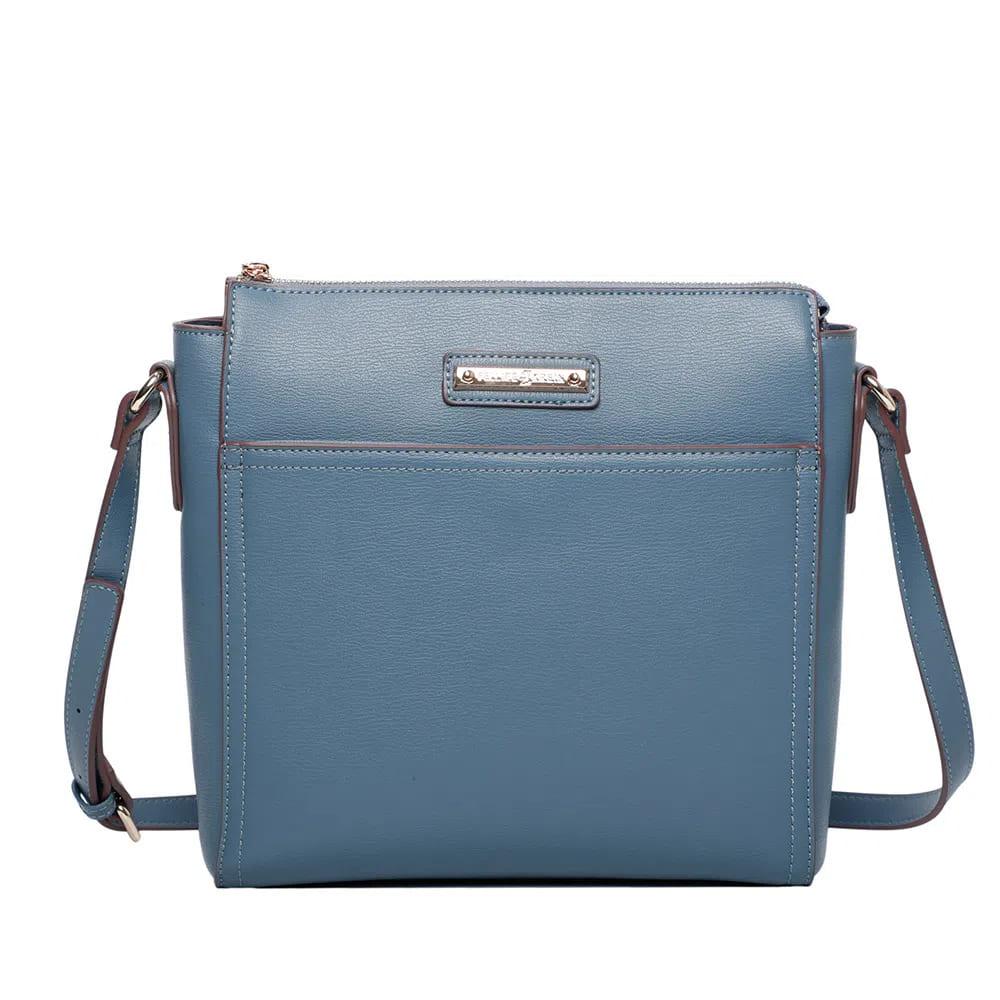 Bolsa Transversal Fellipe Krein FK341 - Napa Soft Azul