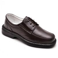 Sapato Anti-stress Comfort em Couro Legítimo Café - 2002