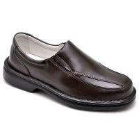 Sapato Anti-stress Comfort em Couro Legítimo Café