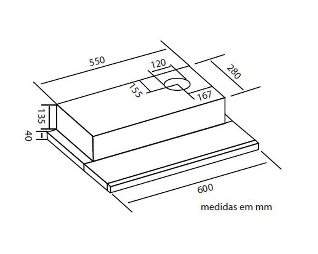 DEPURADOR SLIM SAFANELLI 60CM - EMBUTIR INOX 127 V