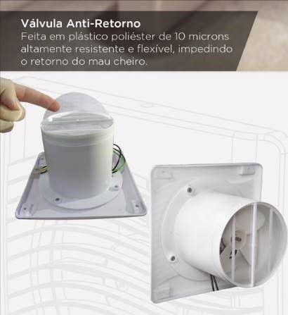 EXAUSTOR ITC 90 COM VÁLVULA ANTI - RETORNO 220 V