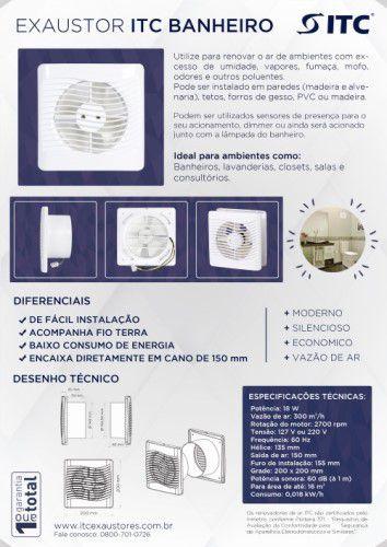 EXAUSTOR ITC BANHEIRO  220 V