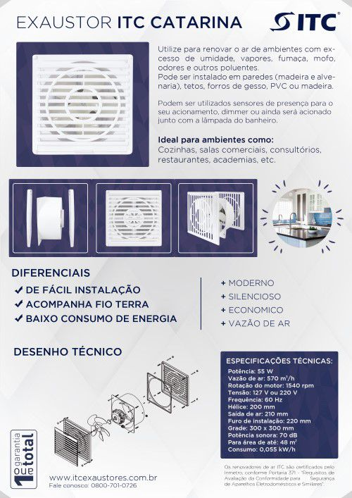EXAUSTOR ITC CATARINA 220 V