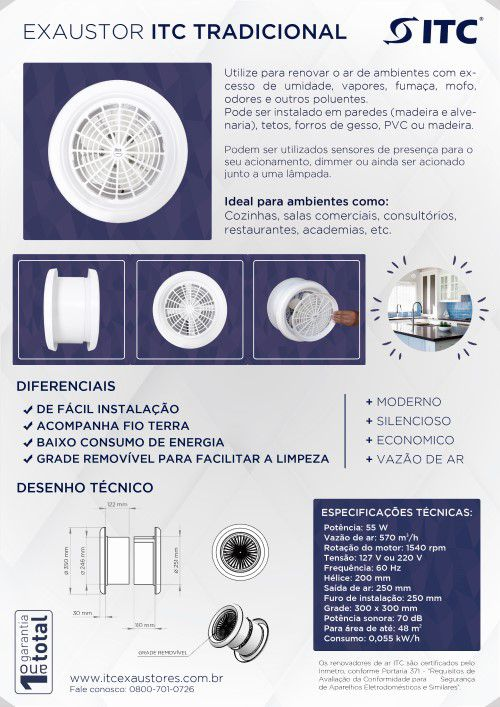 EXAUSTOR ITC TRADICIONAL 220 V