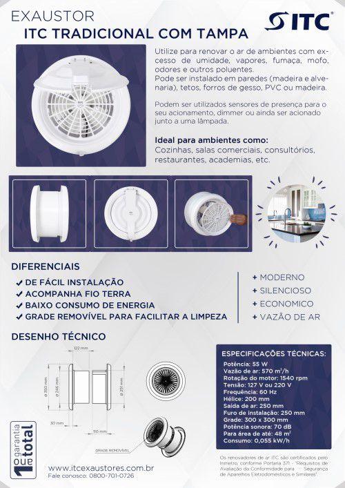 EXAUSTOR ITC TRADICIONAL COM TAMPA 220 V