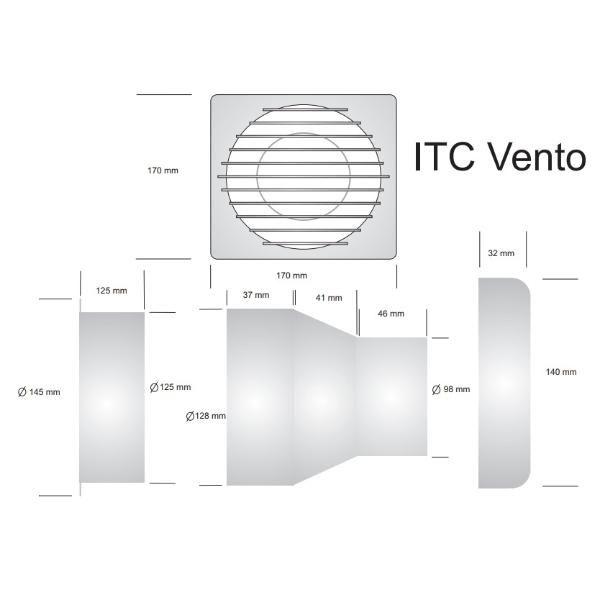 EXAUSTOR ITC VENTO C/ ADAPTADOR 127 V