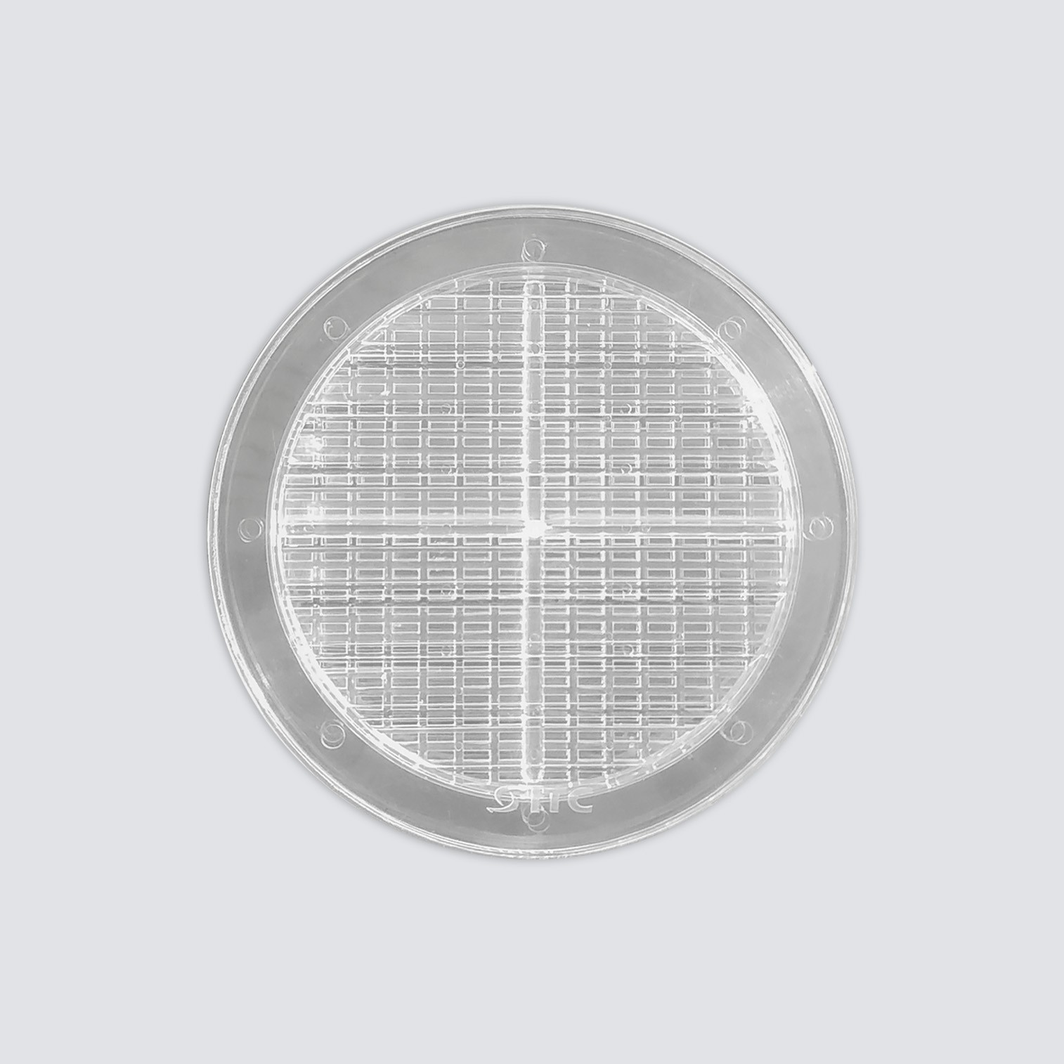 GRADE PARA VIDRO TRANSPARENTE COM TELA 15x15 cm