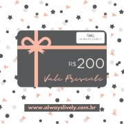 Cartão Vale Presente VP200