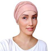 Turbante Feminino Rosa Dourado Festa Helena Glam