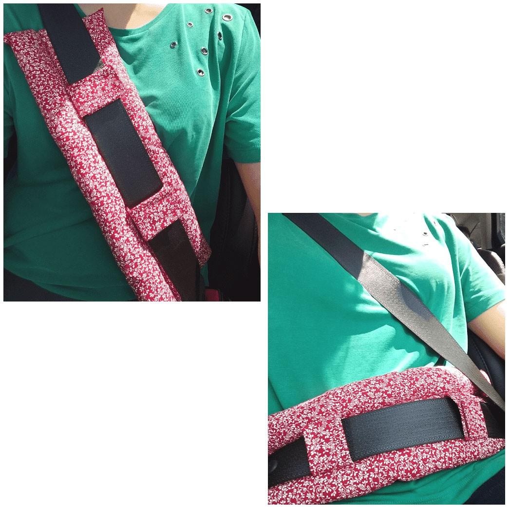 Almofada Protetor de Cinto de Segurança - conforto pós mastectomia