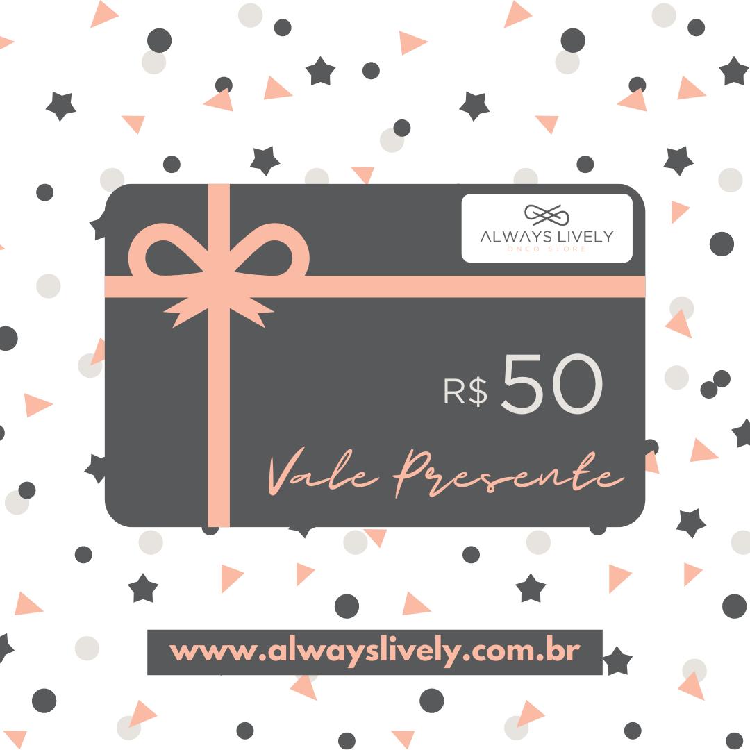 Cartão Vale Presente VP50
