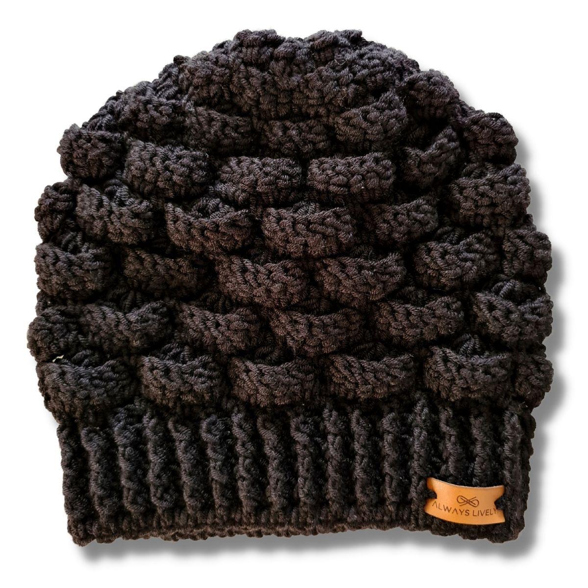 Kit Gorro Crochê Cloud Preto + Touca Sleep Preta